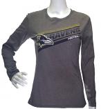 Ravens Heather Grey Long Sleeve T-Shirt