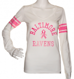 Baltimore Ravens Women's V-Neck Long Sleeved Shirt