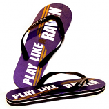Play Like A Raven Purple Flip Flops