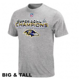 Ravens Grey Super Bowl Champion T-Shirt Big and Tall