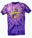 Tie Dye Baltimore Bird Purple T-Shirt