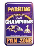 Ravens Fan Zone Parking Sign