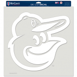 Large White Orioles Die Cut Decal