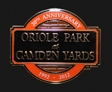Camden Yards 20th Anniversary Collectible Pin