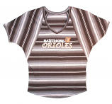 Concept Sports Orioles Black Striped V-Neck Dolman Short Sleeve T-Shirt