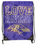 Love Ravens Drawstring Bag