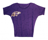 Concept Sports Purple Burnout Scoop Neck Dolman