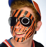 Orange & Black Temporary Face Tattoo