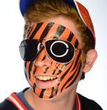 Orange & Black Temporary Face Tattoo