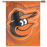 Orioles Orange Cartoon Bird Vertical House Flag